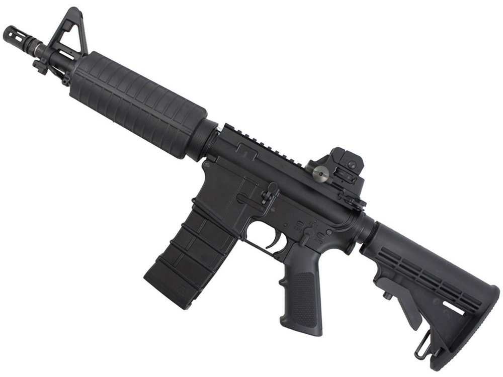 KJWorks M4 CQB Carbine GBB Airsoft Rifle Left Side.jpg