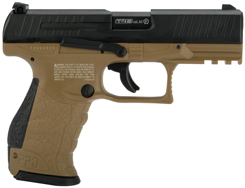 Umarex Walther PPQ M2 .43 Call. Paintball Pistol Tan Right Side.jpg