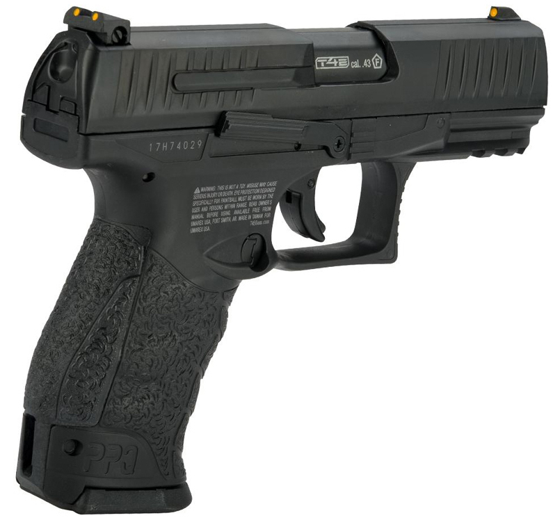 Umarex Walther PPQ M2 .43 Call. Paintball Pistol Black Right Side Angle.jpg