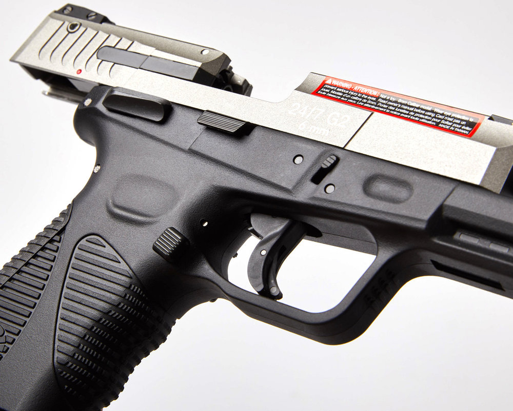 Cybergun Taurus PT24:7 G2 Silver Right Side Open Close.jpg