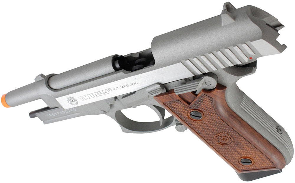 Cybergun Taurus PT92  Stainless Airsoft Top Open.jpg