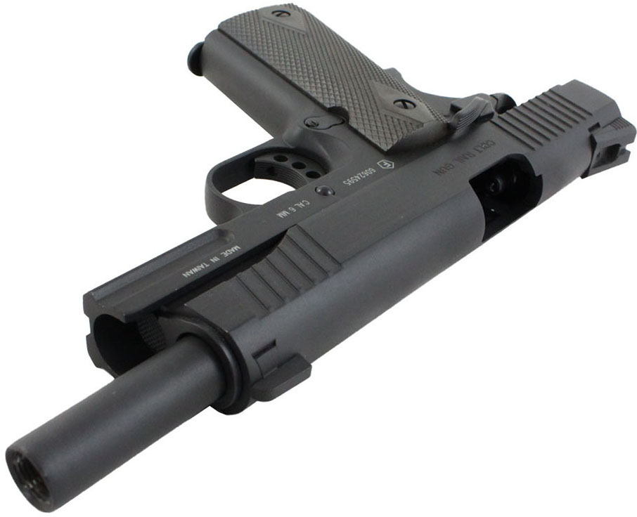 Cybergun 1911 Rail Gun Black Airsoft Top Open Side.jpg