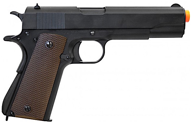 KWA M1911A1 GBB Airsoft Pistol Right Side Red Tip.jpg