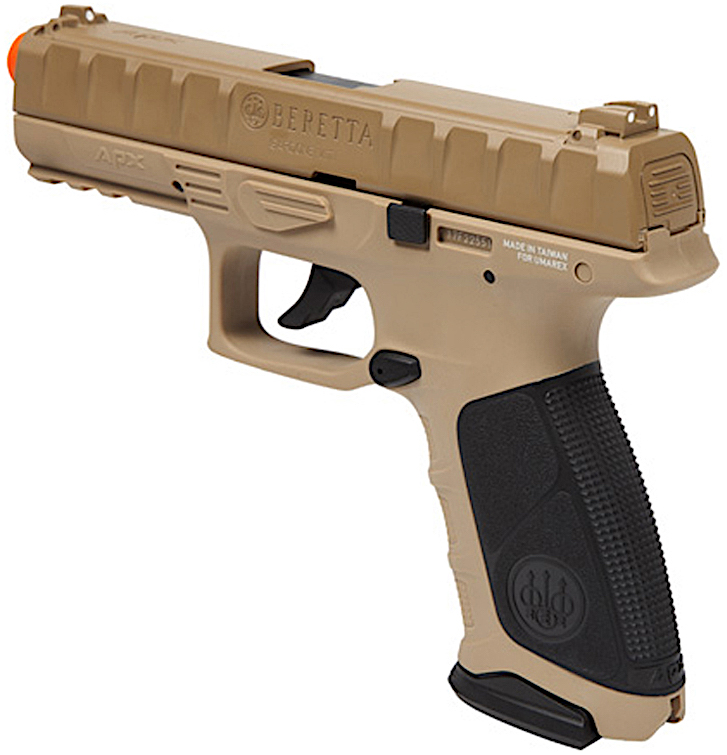 Umarex Beretta APX CO2 Blowback Airsoft Pistol Earth Left Side Angle.jpg