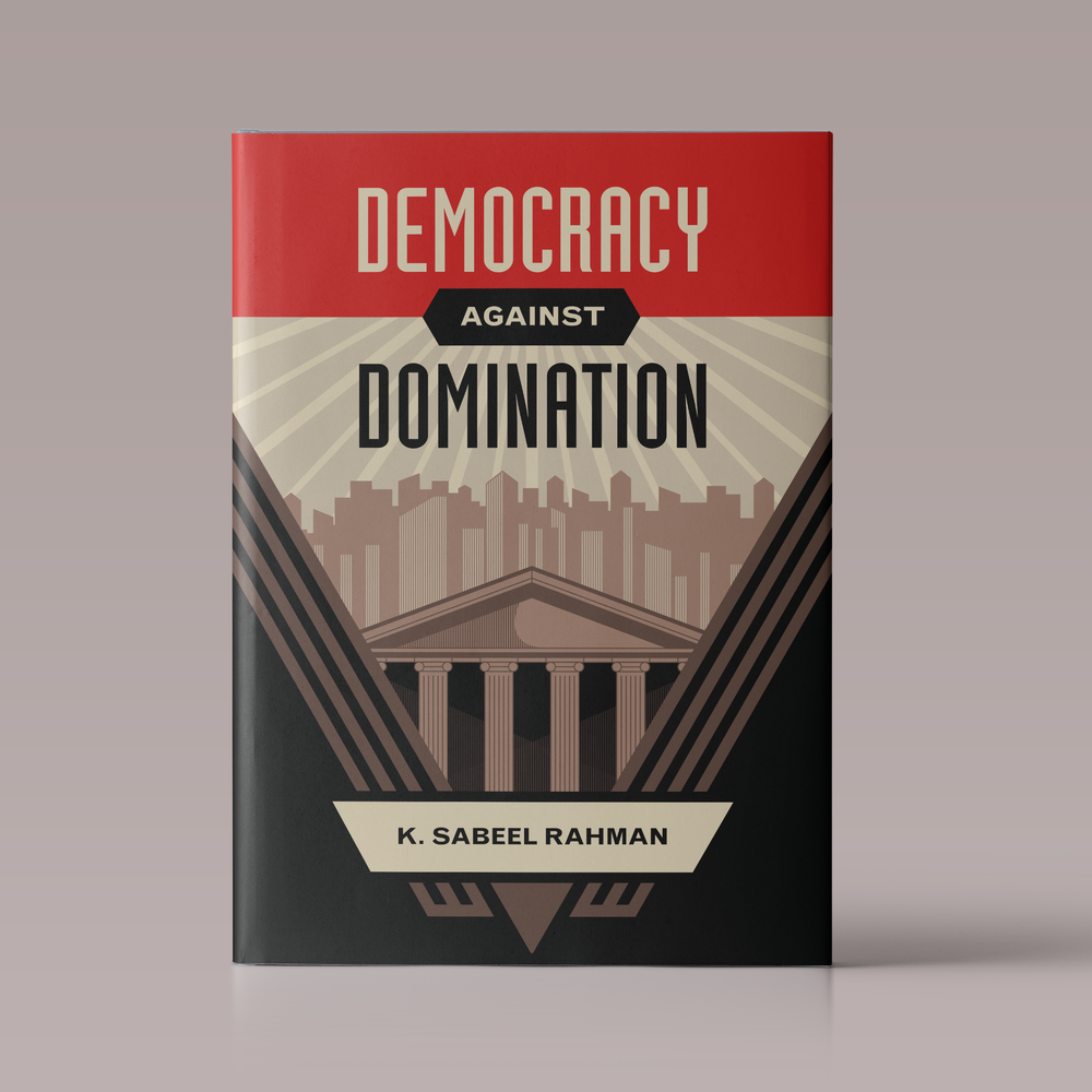 Democracy Against Domination: Book jacket design