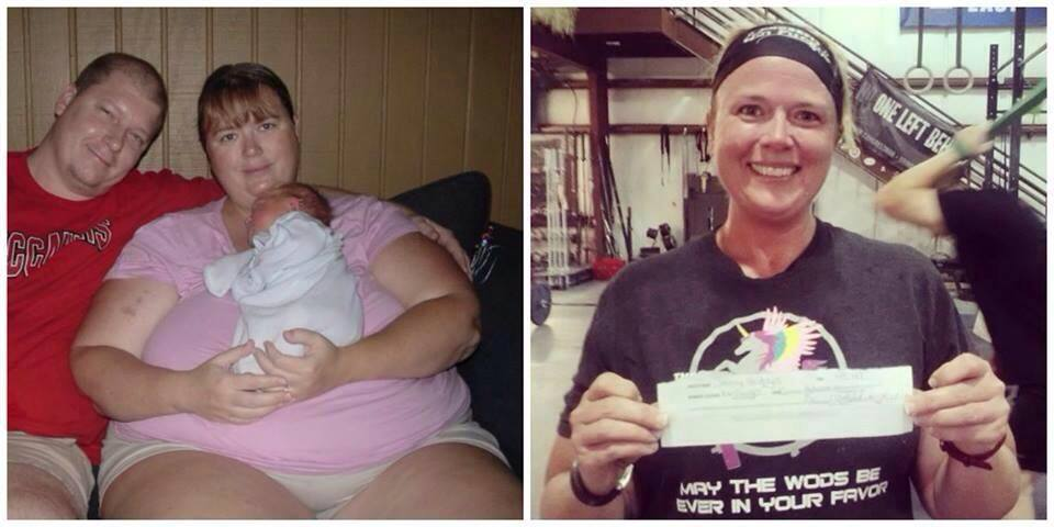 """""""CrossFit changed my life. Lost over 200 lb. (and) did my first Open this year. Finished last but not alone."""" -Jenny Hodges-"""