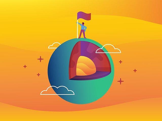 "Illustration for the @linuxacademycom ""CoreOS Essentials"" course - - - #illustration #coreos #flag #vector #vectorart #gradient"
