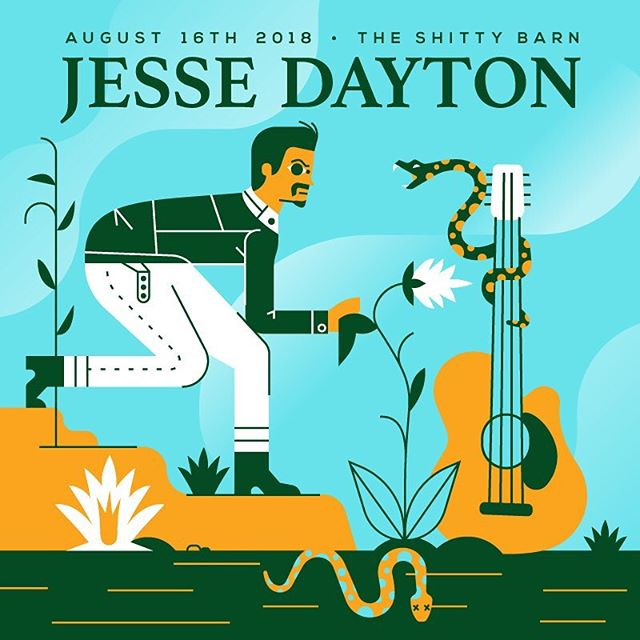 @barnsessions time! Made this one for the Jesse Dayton show coming up -  #illustration #vector #vectorillustration #design #posterart #gigposter #art