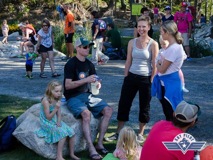 Family at the finish (thats me with the beat up legs and mouthful of water)