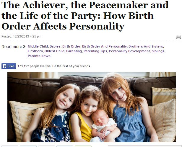 birth order and personality development