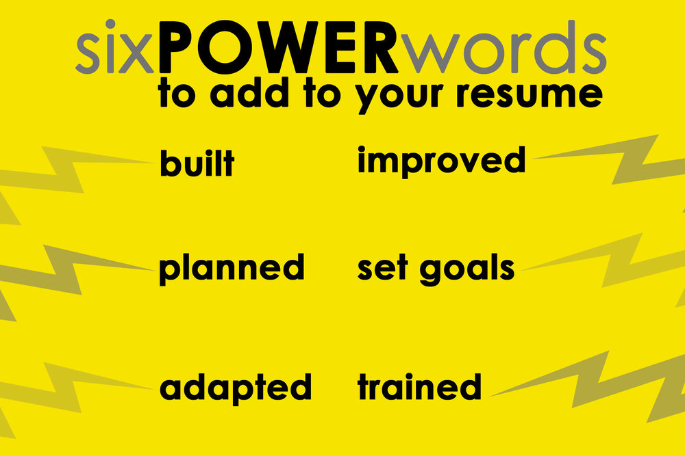 resume power words