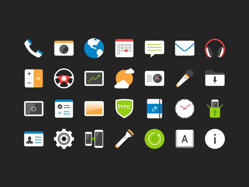 HTC Sense 7 App Icons