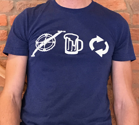 """Pedal, Drink, Repeat"" T-shirt:    $20   If you Pre-Order! ($25 on Tour day)   Impress your boss on Monday with this unisex, super soft, tri-blend tee. Available in sizes SM - XXL."