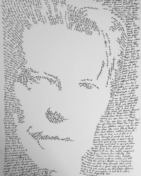 David Bowie - In Their Own Words series pen and ink