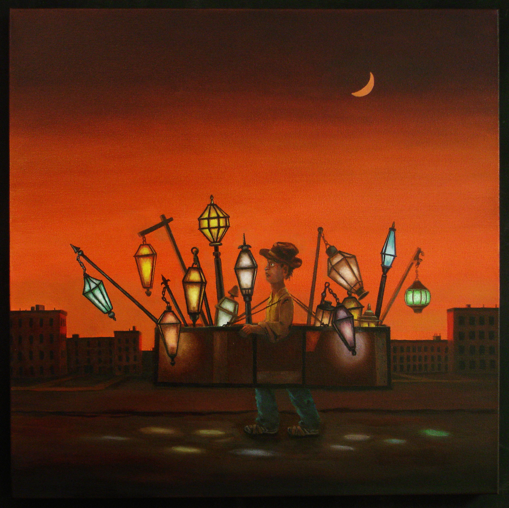 "The Light Peddler 24""x24"" oil on canvas"