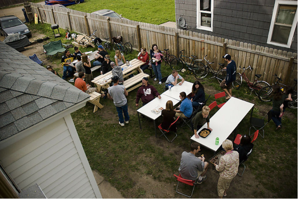 2008: The Love Feast quickly filled the garage and began to spill into the yard each week.