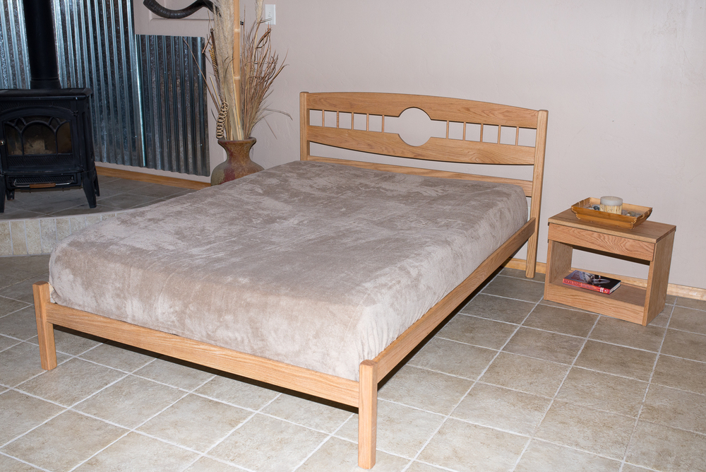 Full Moon Bed shown in Oak