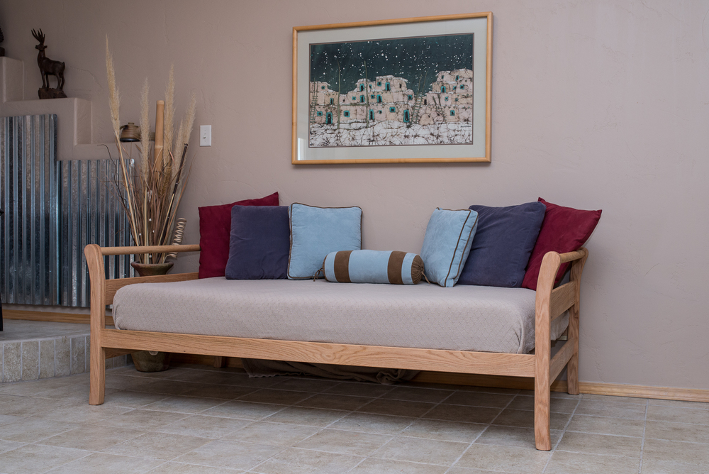 Taos Day Bed shown in Oak