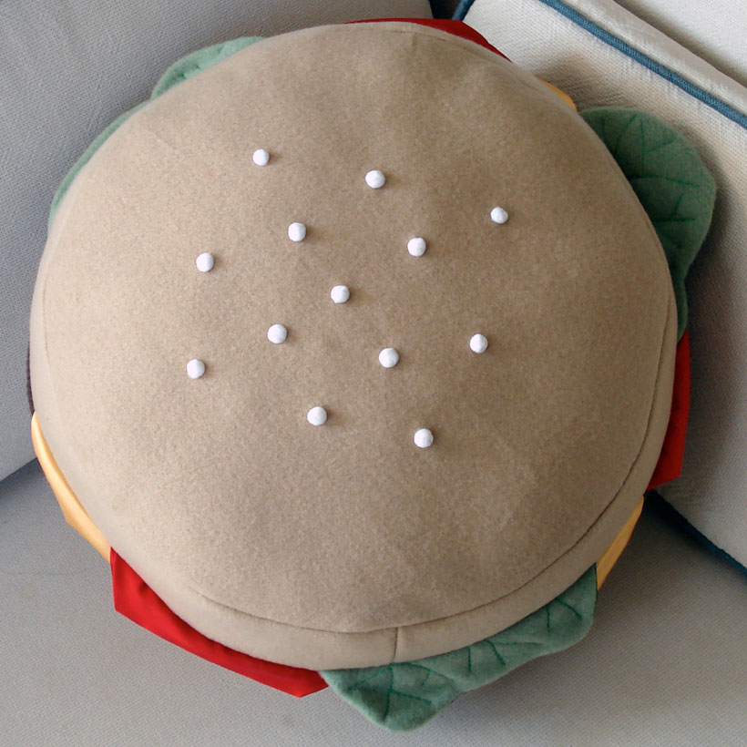 cheeseburger pillow (top bun)