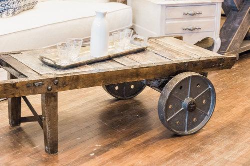 Foundry Wheelbarrow Coffee Table Bellissimo - Wheelbarrow coffee table