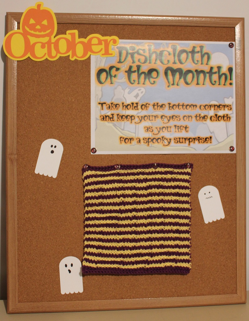 Boo Illusion Dishcloth