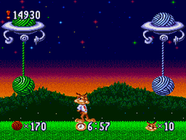 Another '90s game: Bubsy.