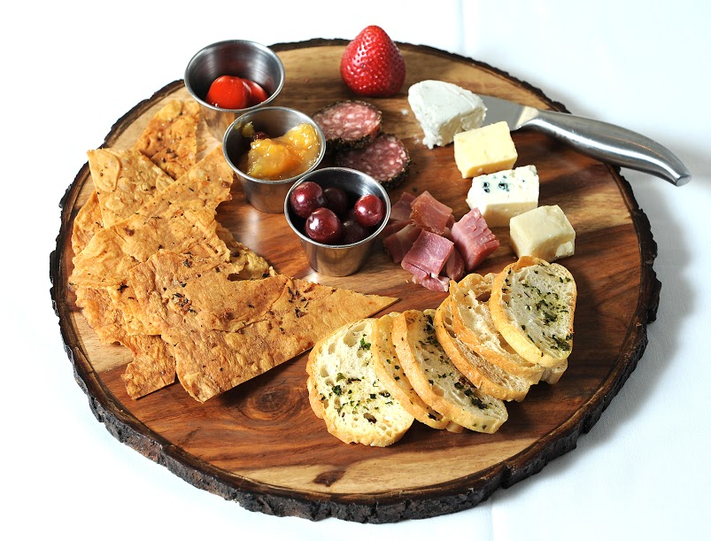 Kinzie Chophouse Steak 25 Years Anniversary Steakhouse Meat and Cheese Platter with Salami, Blue Cheese, Raw Cheddar, Alpine Cheddar, Lavosh, Stuffed Peppers, Chicken and Veal Pate.jpg