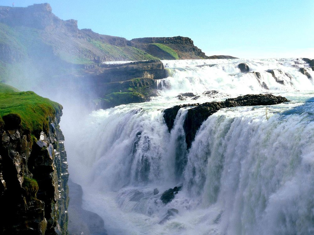 Gullfoss Waterfall - 64°19′34″N20°07′16″W