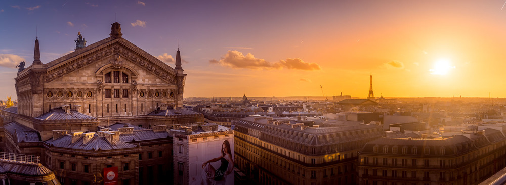 The Opera Garnier from the roof the Galerie Lafayette.