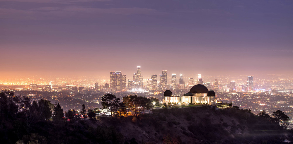 A view of downtown Los Angeles taken from the Griffith Park.