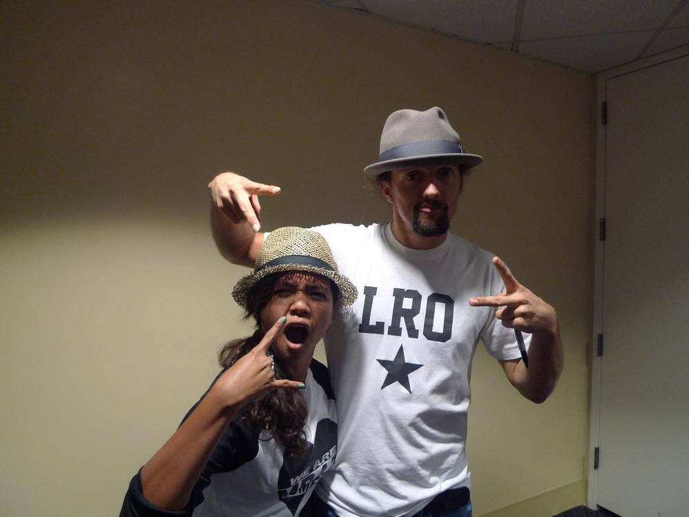 Me and my bro, Jason Mraz (September 2012)