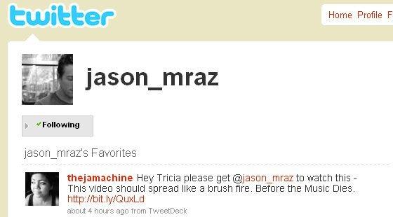 My tweet, marked Favorite! (August 4, 2009)