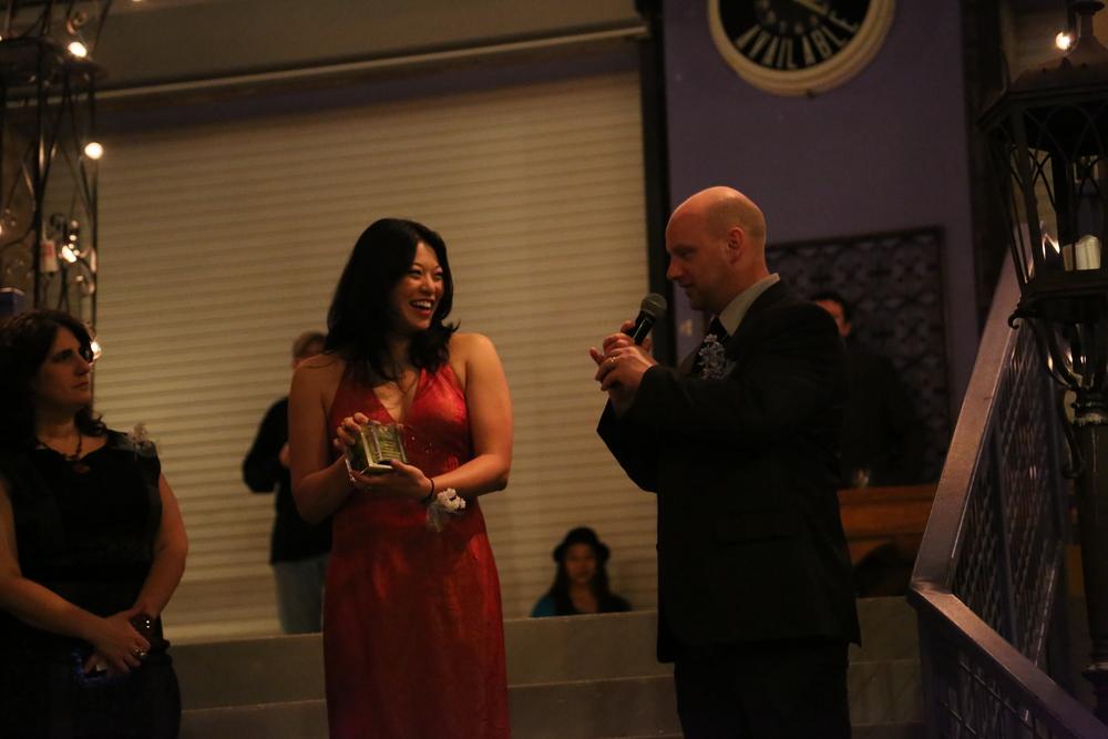 Tony Adams presenting the Iris Award