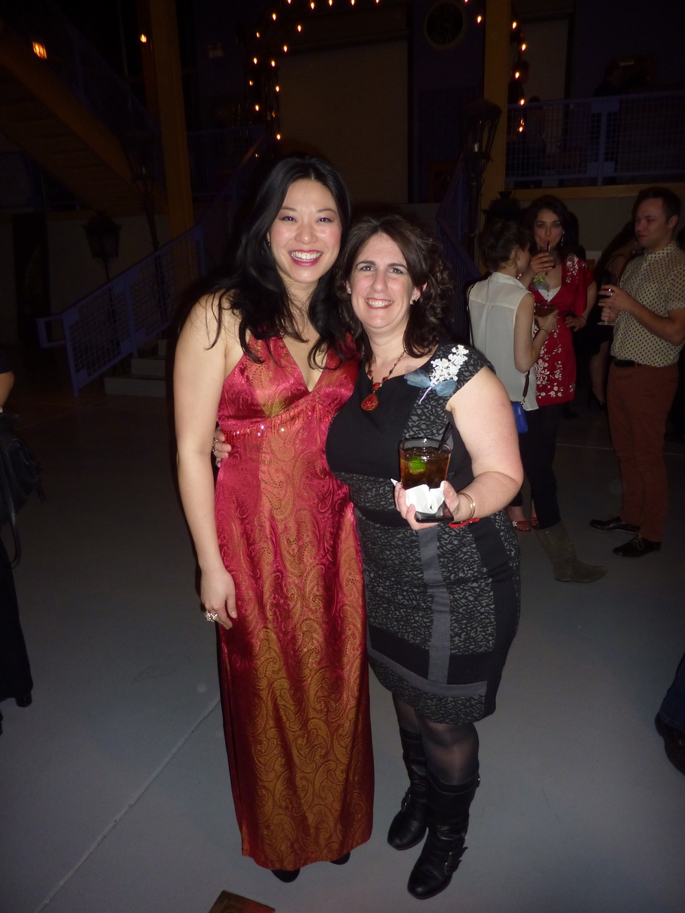 Halcyon co-founder Jenn Adams and me