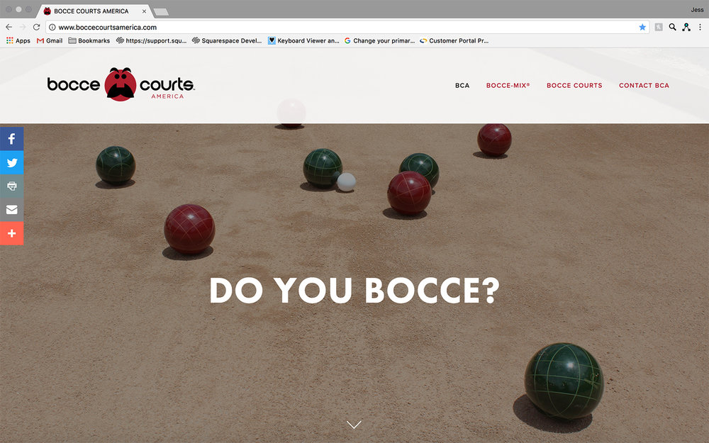 JAW Dropping Designs Bocce Courts America Website
