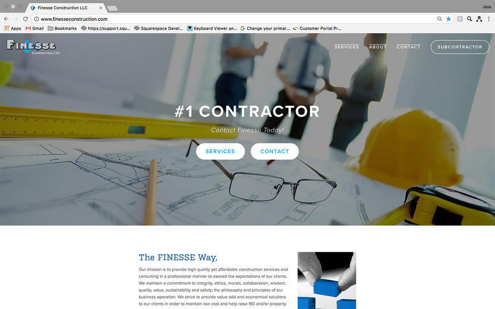 JAW Dropping Designs Finesse Website