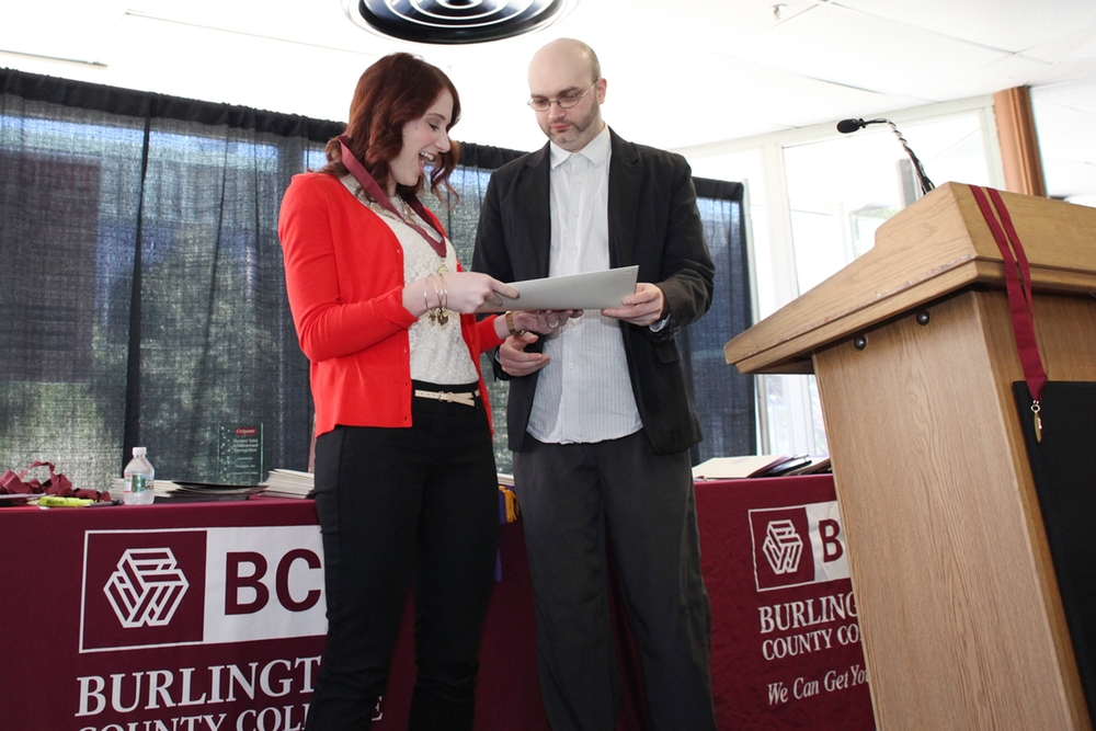 Back in April, I had the great honor of giving our annual award from the literature program to my incredible student Nicole Cammarota. Nicole had me for three classes and also did a directed study with me as well. She is one of the best students I have ever had and the vote in our department was actually unanimous to award her, which is quite rare.