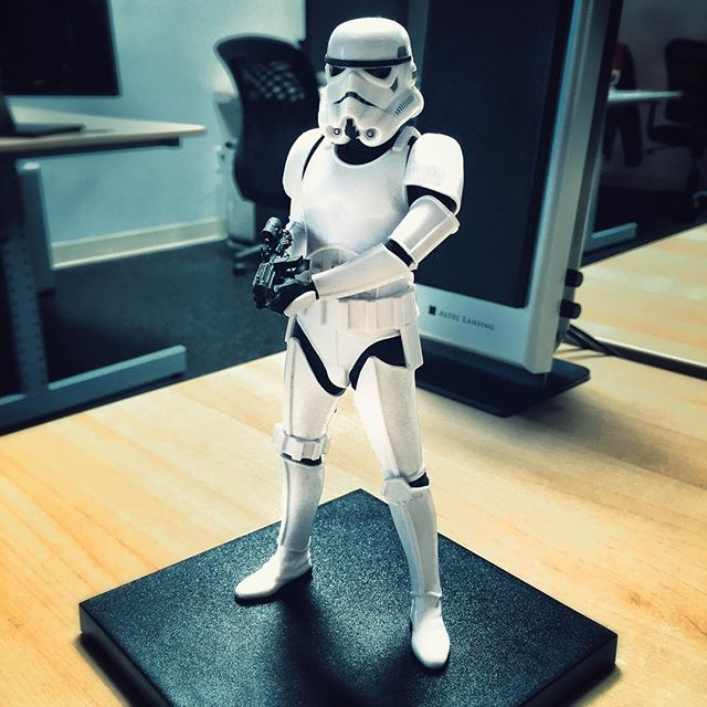 Office desk companion. He's a trooper. #starwars