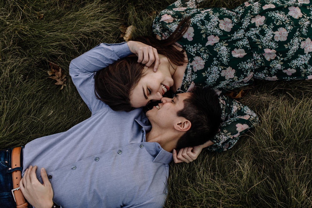 lehigh-valley-photography-merrill-creek-reservoir-engagement-session-meadow-lying-down
