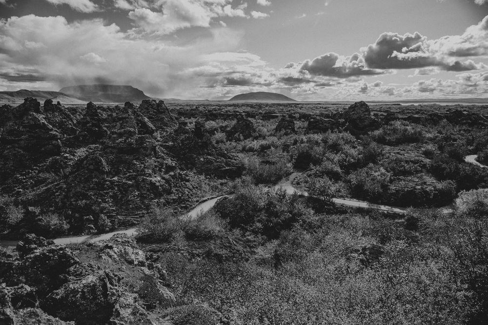 "Many shots of Wildling encampments were filmed at  Dimmuborgir  (""the dark castle"") in Iceland - a truly beautiful lava field with a now dormant volcano (Hverfjall) seen in the background"