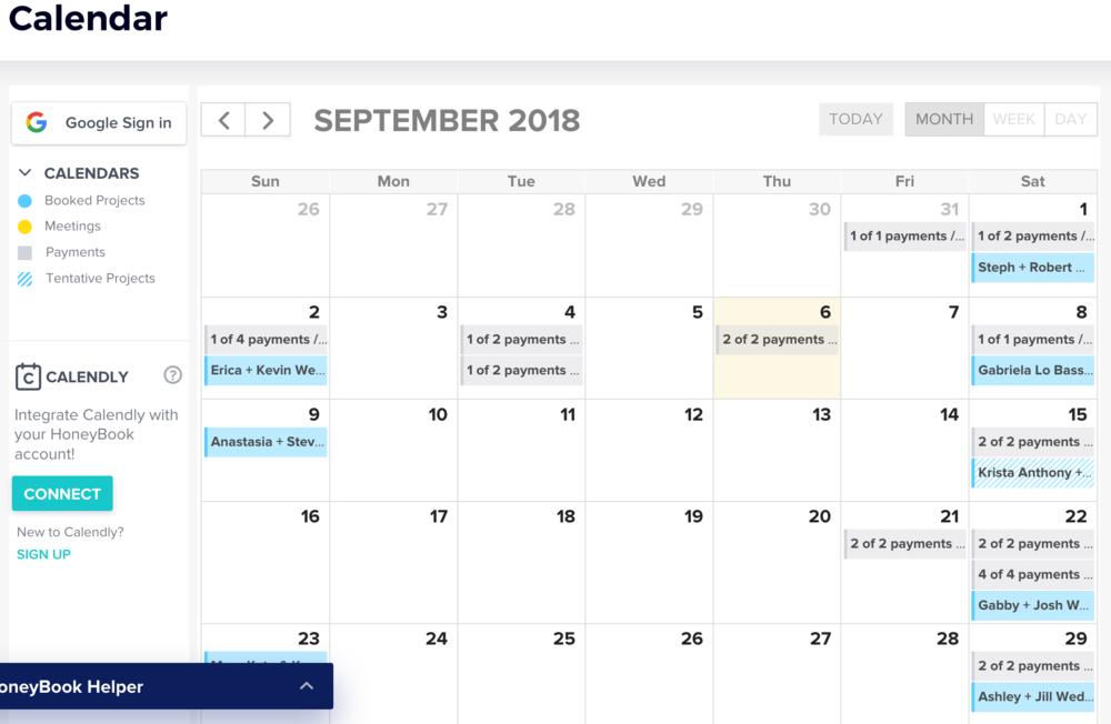 honeybook-calendar