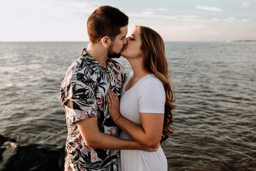 cape-may-nj-sunset-beach-engagement-photography-rocks