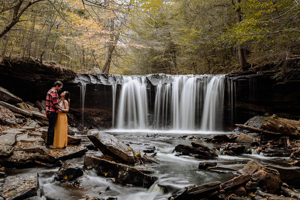 ricketts-glen-engagement-photography-long-exposure