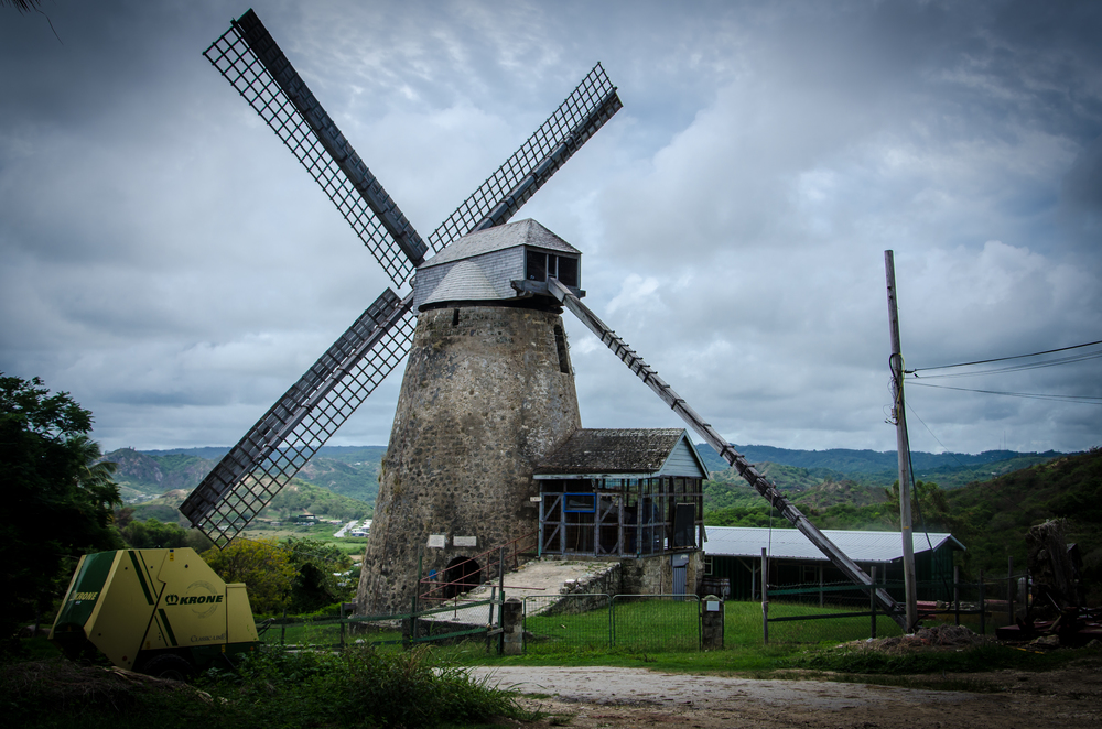 Morgan Lewis Windmill.  One of the last wind powered sugar mills in the Caribbean that is still operational.