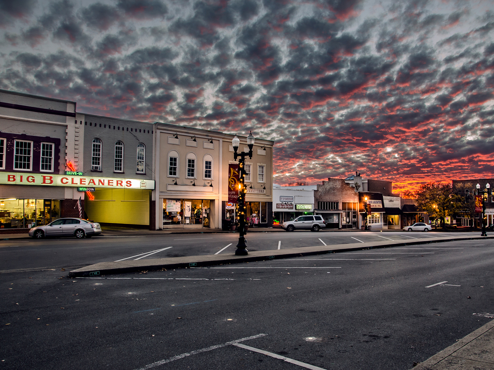 Sunset Downtown Murfreesboro, Tennessee