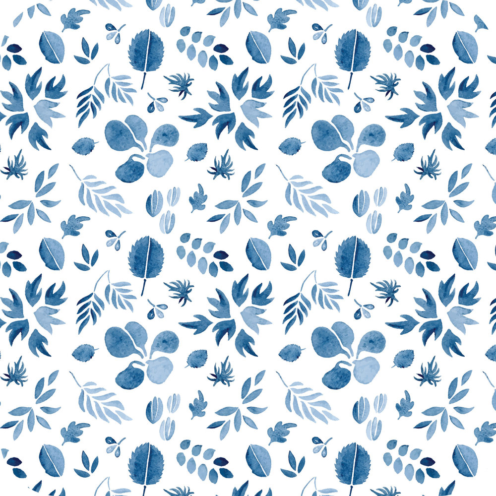 Indigo Leaf Pattern