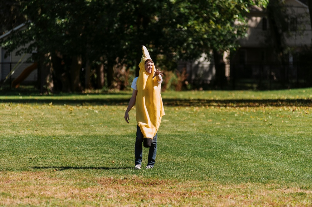 Derek Thomas was on my kickball team and dressed like a banana...so there was that...