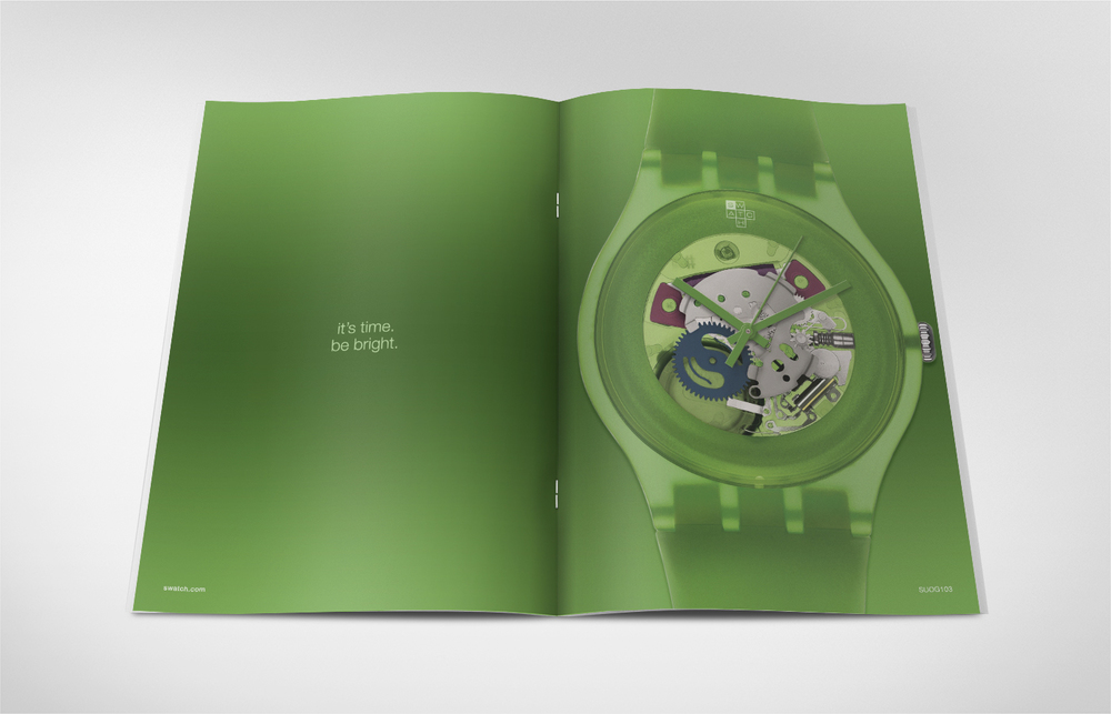 SWATCH - NEW COLLECTION MAGAZINE AD