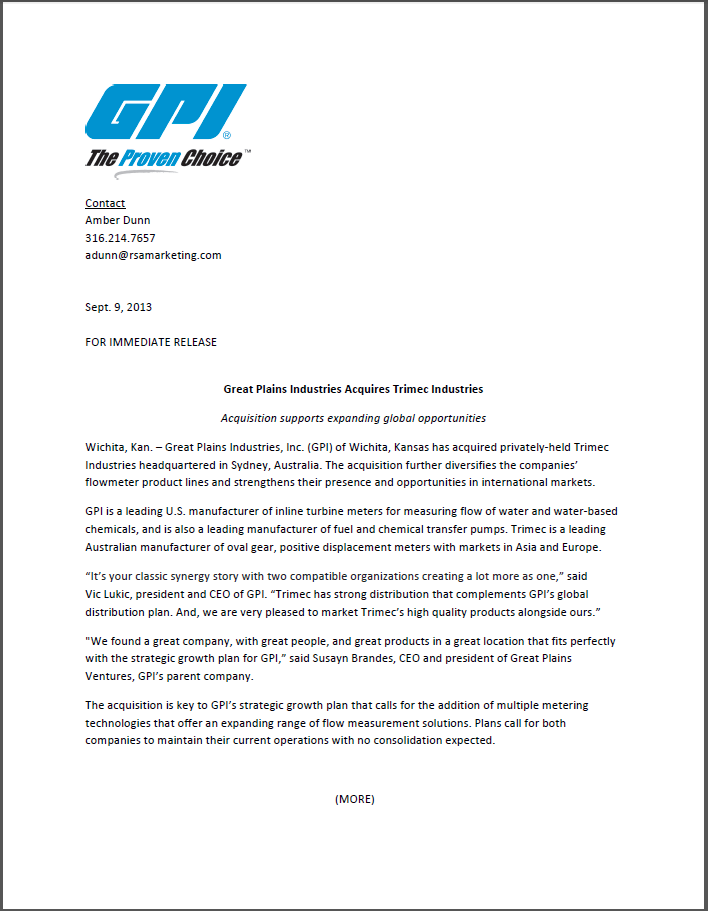 GPI -TRIMEC PRESS RELEASE- 9TH SEPTEMBER, 2013