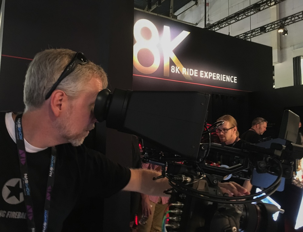 Checking out Canon's 8k prototype.